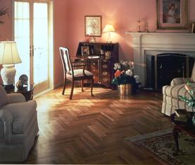 Natural wood floors in living room